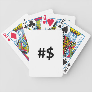 hashtag money bicycle playing cards