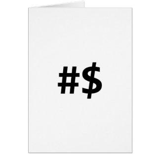 hashtag money card