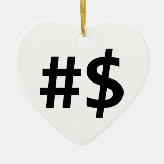 hashtag money ceramic ornament