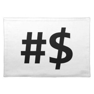 hashtag money placemat