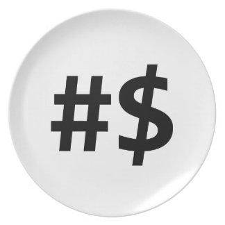 hashtag money plates