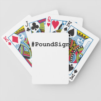 Hashtag Pound Sign Bicycle Playing Cards