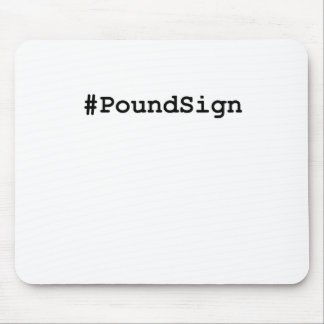 Hashtag Pound Sign Mouse Pad