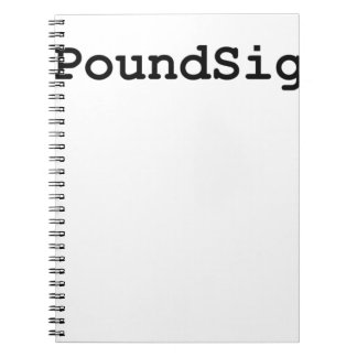 Hashtag Pound Sign Spiral Note Book