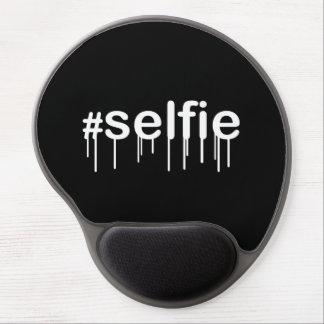 Hashtag Selfie Drooling Black Decor Gel Mouse Pad
