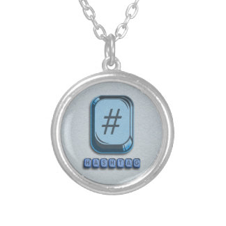 Hashtag Silver Plated Necklace