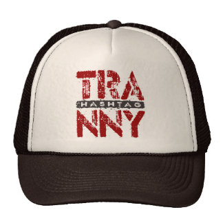 Hashtag TRANNY - I Love Rebuilt Transmissions, Red Trucker Hat