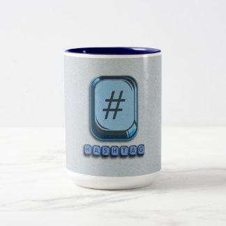 Hashtag Two-Tone Coffee Mug