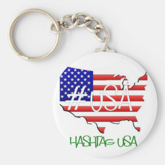 Hashtag USA Logo Keychain