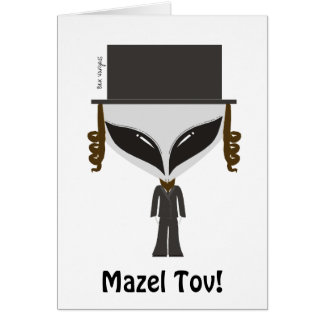 Hasidic Jew Greeting Card