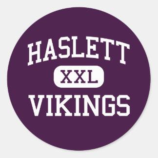 Haslett - Vikings - High School - Haslett Michigan Classic Round Sticker