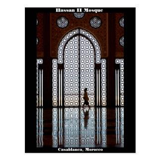 Hassan II Mosque in Casablanca, Morocco postcard
