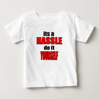 HASSLE doityourself annoying work boss task skippi Baby T-Shirt