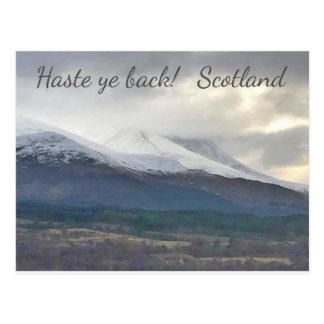 Haste ye back! Scotland. Postcard. Postcard