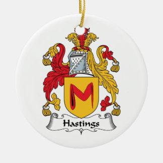 Hastings Family Crest Ceramic Ornament