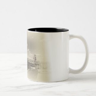 Hastings Lift Bridge Two-Tone Coffee Mug