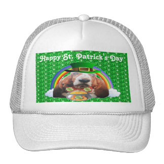 Hat Basset Hound Happy St. Patrick's Day