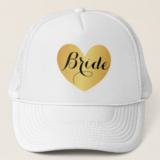 Hat - Bride Heart Script White