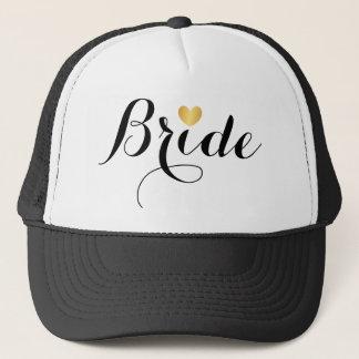 Hat - Bride Script Heart Black