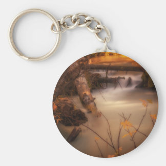 Hat Creek in Gold Keychain