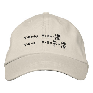 Hat, embroidered, Maxwell's equations Embroidered Hat