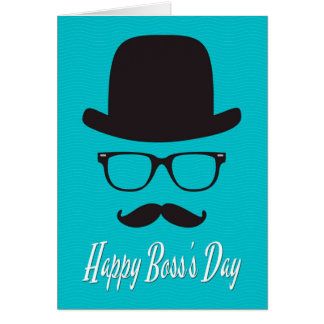 Hat, Glasses, and Mustache for Boss's Day Card