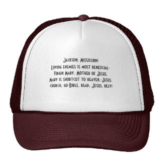 Hat/Jackson,Mississippi christian/Be a witness! Trucker Hat