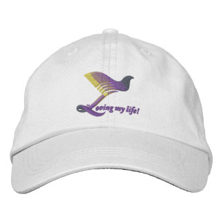 Hat Loving My Life Embroidered Hats