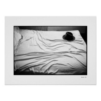 HAT ON BED Poster