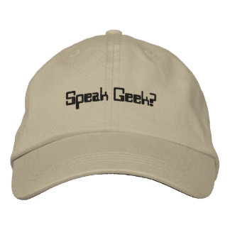Hat or Cap for Geeks - Geek Hat - SPEAK GEEK?