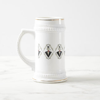 Hat-Pattern Beer Stein