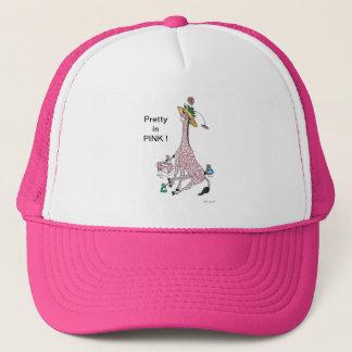 Hat, Pink Giraffe, funny and cute Trucker Hat
