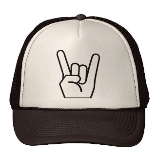 hat, rock and roll, brown trucker hat