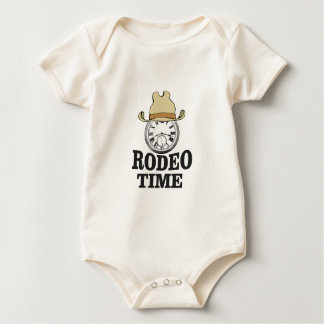 hat rodeo time baby bodysuit