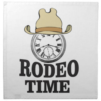 hat rodeo time napkin