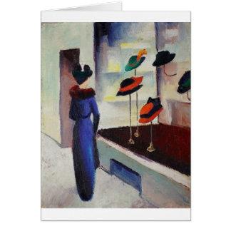 Hat Shop - August Macke Card