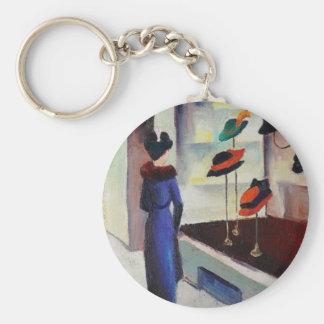 Hat Shop - August Macke Keychain