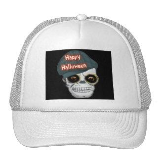 Hat Skeleton Head Happy Halloween