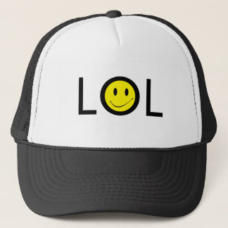 Hat ~ Texting Mod LOL w/ Retro Smiley Face
