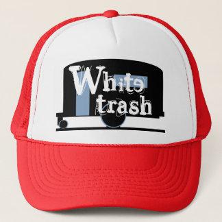 Hat Travel Trailer Drinking Cap White Trash