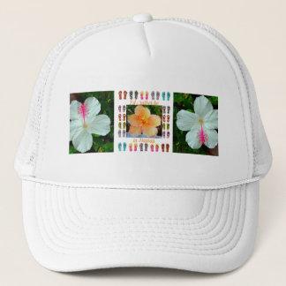 hat, Trucker Style, Hawaiian Tapestry / Hibiscus Trucker Hat