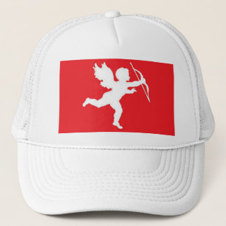Hat White Cupid On Red