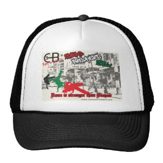 Hat with CBC poster by Chantal Parratt