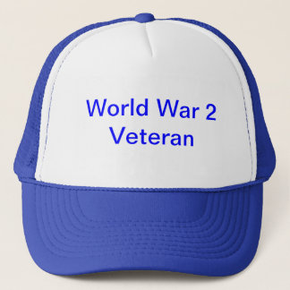 "hat with ""World War 2 Veteran"""