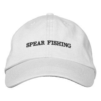 Hat with writing on it.