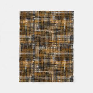 Hatch modern - Brown, Beige Fleece Blanket