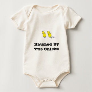 Hatched By two Chicks  Lesbian Parents Baby Bodysuit