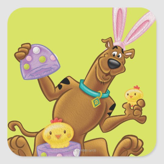 Hatched Easter Egg Square Sticker