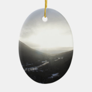 Hatcher Pass view Alaska Ceramic Ornament
