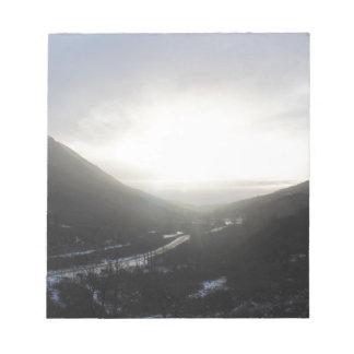 Hatcher Pass view Alaska Notepad